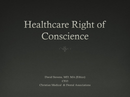 The Right of Conscience and Religious Liberty