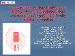 The McGill Educational Initiative in Interprofessional