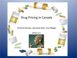Pharmaceutical Industry in Canada