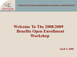 OFFICE OF HUMAN RESOURCES AND EQUAL OPPORTUNITY …