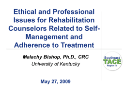 Ethical issues for rehabilitation counselors related to