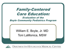 Family-Centered Care Education: Evaluation of the Boyle