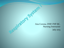 Respiratory System - Dr. NurseAna's Nursing Reviews
