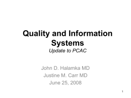 IS/Clinician Partnership Clinical Information Systems