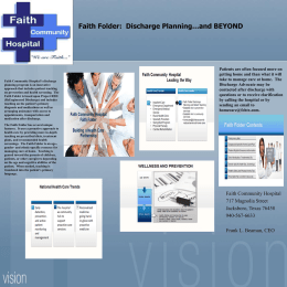 Faith Folder - Texas Center for Quality & Patient Safety