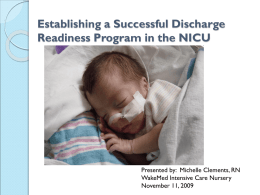 Establishing a Successful Discharge Readiness