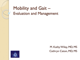 Mobility and Gait - Medical Center Intranet
