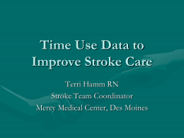 Time Use Data to Improve Stroke Care