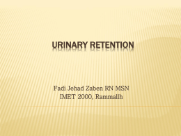 URINARY RETENTION - IMET2000-PAL
