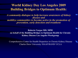 World Kidney Day Los Angeles