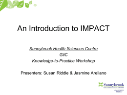 An Introduction to IMPACT