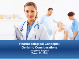 Pharmacological Concepts: Pediatric and Geriatric