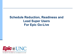 > Go-live Readiness Assessment