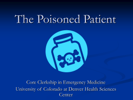 The Poisoned Patient - University of Colorado Denver