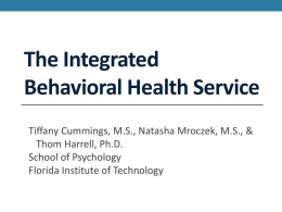 Integrated Behaviora.. - Access Florida Tech