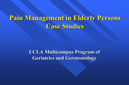 Pain Management in Elderly Persons Case Studies