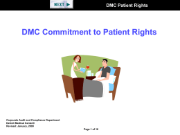 DMC Patient Rights - Detroit Medical Center