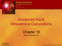 Advanced Adult Intravenous Calculations