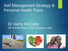 personal health plans - NHS East and North Hertfordshire Clinical