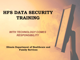 What is the HIPAA Security Rule? - Illinois Department of Human
