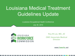 Dr. Roy Lee - Louisiana Association of Occupational Health Nurses