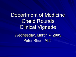 Grandrounds Clinical Vignette