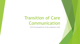 Transition of Care Communication