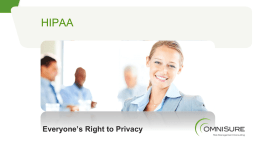 HIPAA Training: Everyone`s Right to Privacy
