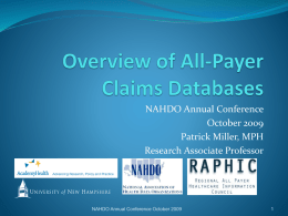Overview of All-Payer Claims Databases