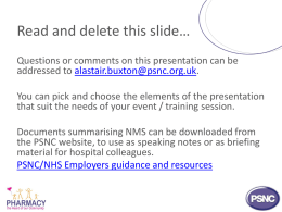 for LPCs to use when discussing NMS/MUR with hospital colleagues