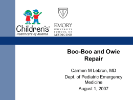 Boo-Boo and Owie Repair for Dummies