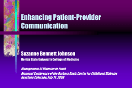 Enhancing Patient-Provider Communication