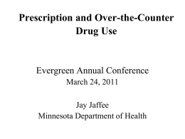Prescription and Over the Counter Drug Abuse