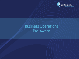 Business Operations Pre-award (Medicare Coverage Analysis [MCA