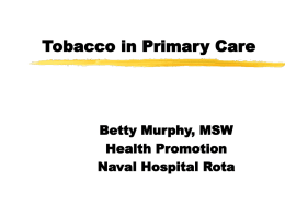 Treating Tobacco in Primary Care