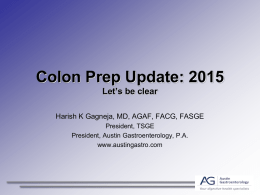 Colon Prep Update