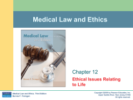 Ethical Issues Relating to Life