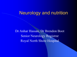 Neurology and nutrition
