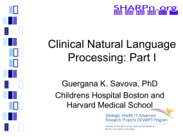 Clinical Natural Language Processing