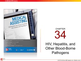 Chapter 03 - HIV_Hepatitis and Other Blood Borne Pathogens