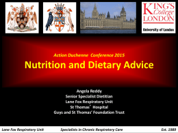 Nutrition and Dietary Advice – Angela Reddy