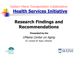 Eastern Maine Transportation Collaborative Members