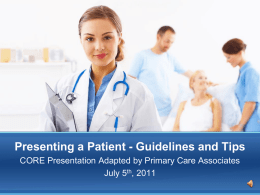Powerpoint - Presenting a Patient