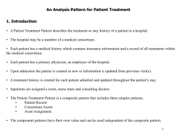 Patterns for Hospitals