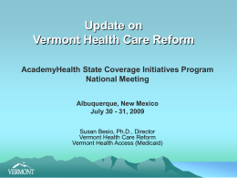 Vermont Health Care Reform of 2006