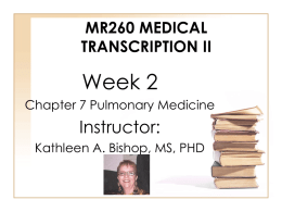MR290 Medical Transcription Externship and Evaluation