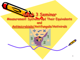 Week 3 Seminar Measurement Systems and Their Equivalents and