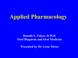 Applied Pharmacology Yagiela,JA,Neidle,EA, Dowd,FJ