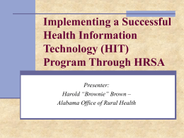 Implementing a Successful Health Information
