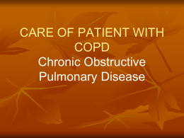 care of patient with copd